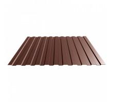 Профнастил С-8 Полимер (коричневый шоколад)